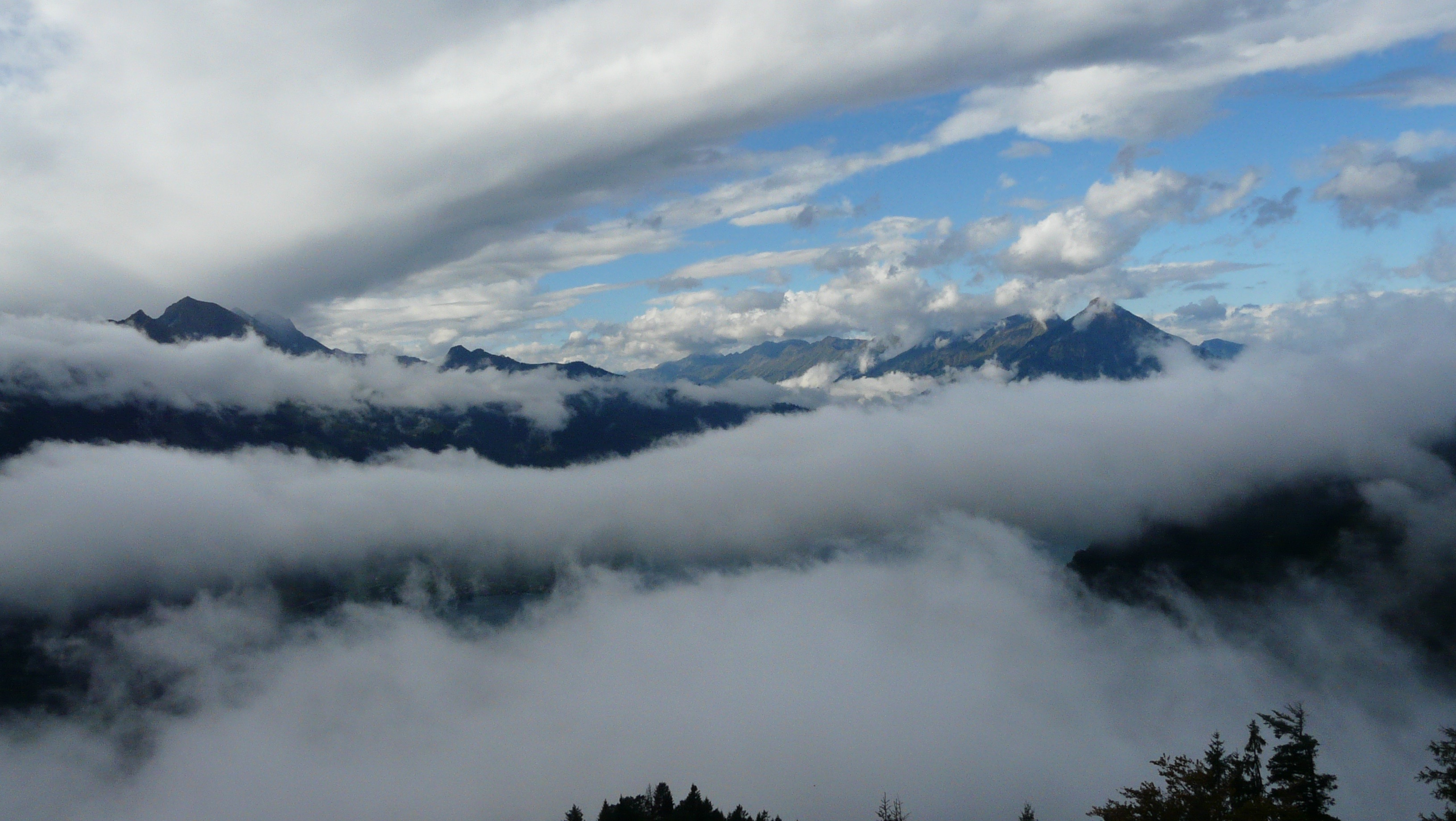 Clouds at Harder Kulm, above Interlaken